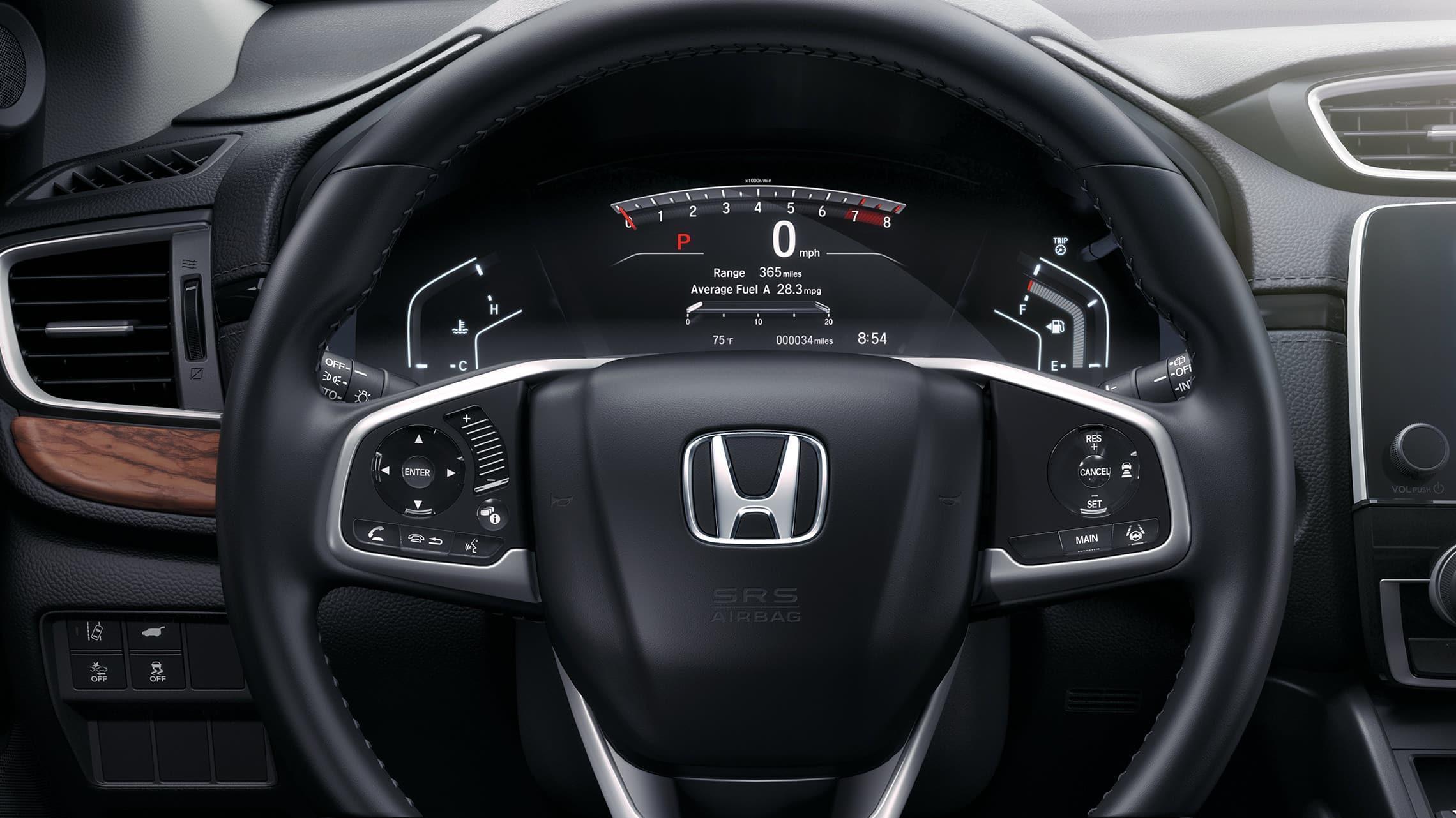 Panel de instrumentos de la Honda CR-V Touring2019.